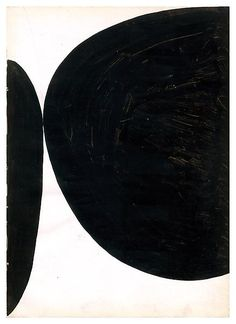 Ellsworth Kelly Untitled 1954 - Ink on paper black and white