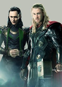 Loki lookin all sexy, and Thor just like, who's buffer.