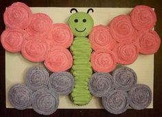 How stinking cute is this butterfly shaped out of cupcakes.