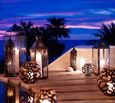 Set the mood with lanterns. I love lanterns...