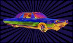 retro, Car, graphic, design, Art