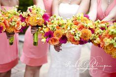 Rachel A. Clingen Wedding Design | Wedding Flowers Toronto | Muskoka bridesmaids, bridesmaid flowers, flower centerpieces, wedding ideas, wedding flower arrangements, wedding flowers, floral bouquets, bridesmaid bouquets, bright colors