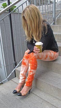 Dip-dye jeans, so cool!
