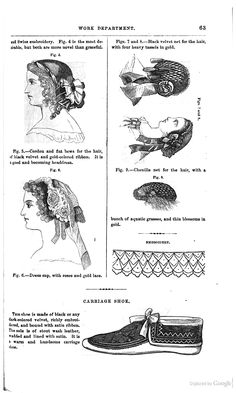 Hair pieces in Godey's 1861
