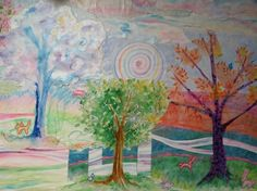 Art Therapy Department Chair, Deb Schroder created this image for our Counseling Center waiting area.