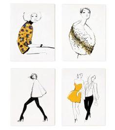 Garance Dore for Rifle Paper Graphic Assorted Girls Set rifl paper, paper graphic, manner museum, garanc dore, hostess gift