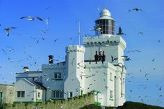 Coquet lighthouse on