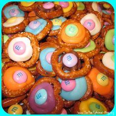 Chocolate M&M Pretzel Buttons 3