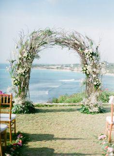 Romantic Cliff Top Wedding by the Sea in Bali: http://www.stylemepretty.com/2014/09/11/romantic-cliff-top-wedding-by-the-sea-in-bali/ | Photography: Jemma Keech - http://jemmakeech.com/
