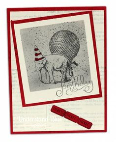 MIX7 Happy Birthday, You Old Elephant! @stampinup You Are Amazing with Faux Polaroid technique.