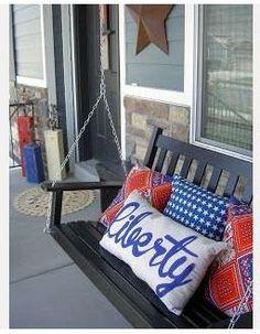 Pretty Patriotic Porches!