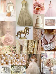 Rose gold inspiration board