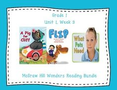 This first grade highly interactive journal is aligned to Common Core and to the McGraw Hill Wonders series for Unit 1 Week 3.