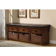 Coaster Rustic Brown Long Bench $337.00  #ZoostoresPIN2WIN