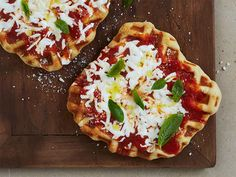 Waffled Margherita Pizza Recipe : Food Network Kitchens : Food Network - FoodNetwork.com