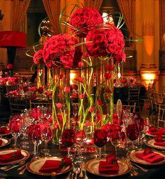 ► Una versión moderna de las rosas. #arreglosdemesaparaboda