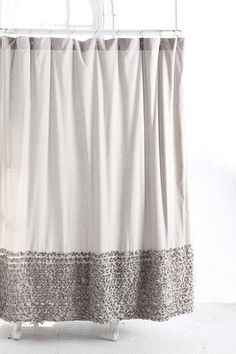 Bloomer ruffle shower curtain at Urban Outfitters $48 #bath #bathroom #shower #ruffles