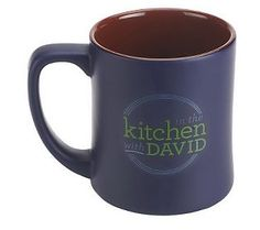 """For the """"In the Kitchen with David"""" foodie! These mugs are David sized! @David Nilsson Venable QVC #GiftIdeas"""