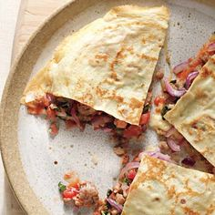 Image of sausage crepesadillas from rachael ray magazine
