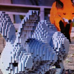 Bunny lego art