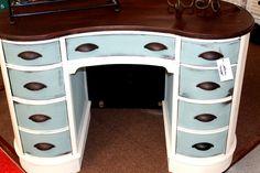 Repurposed Furniture. My favorite color!!!