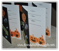 Holiday Invitation by Stampin' Up! to create simple and quick invitations like this fun and spooky invite by http://www.handstampedstyle.com