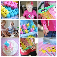 "Has a ""peep glaze"" recipe for using Peeps for painting!"