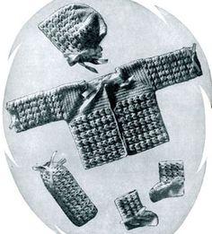 Free Crochet Baby Set Pattern. set pattern, baby patterns
