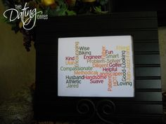 subway art, crafti, father day, gift ideas, marriag