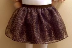 Leopard Girl's Tutu brown with black waistband elastic FREE headband ..................BUY NOW @ Have Heart Daily – A Shopintoit Store