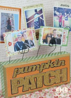 Wood Block Photo Holder with Echo Park paper & Mod Podge using KNK Zing #KNKZing #ModPodge