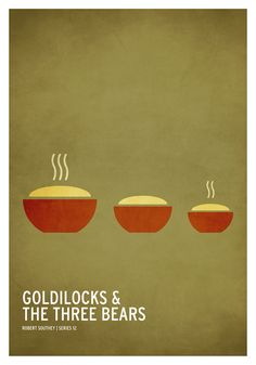 Goldilocks & The Three Bears / 19 Minimalistic Posters Of Your Favorite Childhood Stories by Christian Jackson (via BuzzFeed)