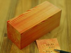 wood block sticky notes.