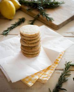 Lemon Rosemary Butter Cookies at chasingdelicious.com. Recipe at @Russell van Kraayenburg.
