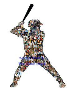 Personalized Baseball Team Photo Collage - Amazing Gift. $18.00, via Etsy.