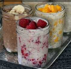Summer Porridge.  (Easy overnight refrigerator oatmeal.)