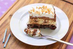 Brownie-Bottom Coconut Chocolate Cream Cake > Willow Bird Baking