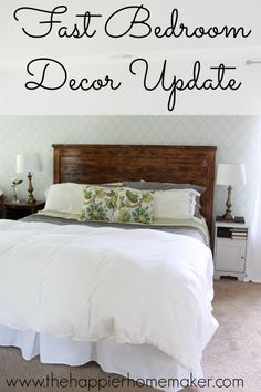 fast bedroom decor update