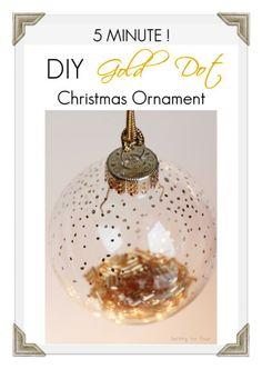 Five Minute DIY Gold Dot Christmas Ornament