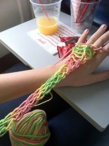 Crocheting With Your Fingers : Finger Knitting on Pinterest Finger Knitting, Finger Crochet and ...