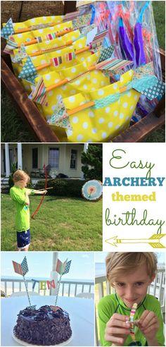 Archery themed birthday party ideas