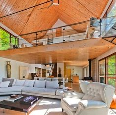 Halle Berry's chic Canadian cabin.