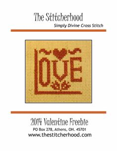 2014 Valentine Freebie from the Stitcherhood