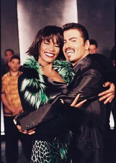 Whitney and George Michael
