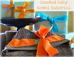 Hooded Baby Towel Tutorial michellelunt.com