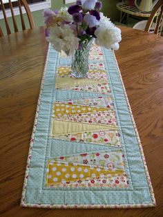 Spring Summer Table Runner Housewares Kitchen by PerfectStitches, $38.00