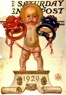 J.C. Leyendecker, 1929 New Year's baby.
