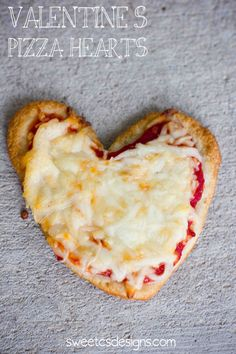 valentines pizza hearts