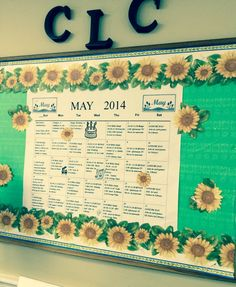 Green & yellow for May's board
