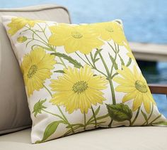 Dahlia Outdoor Pillow #potterybarn